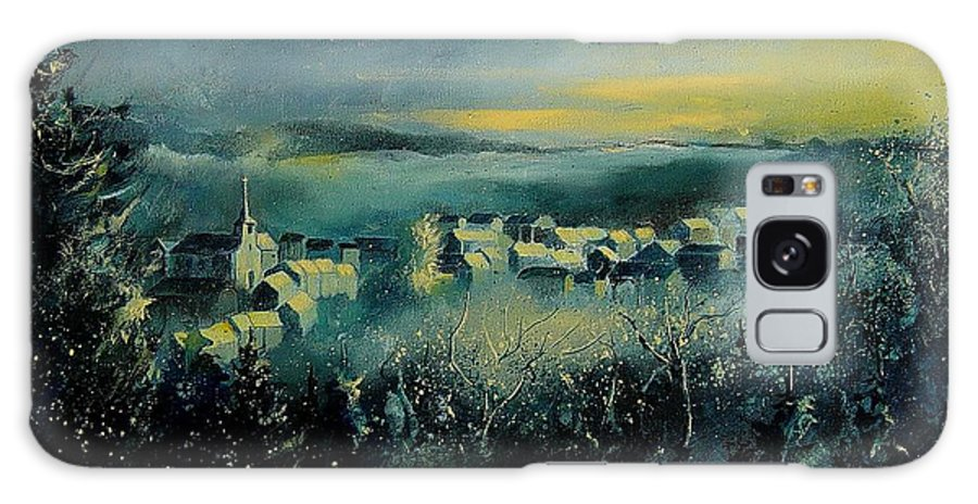 Village Galaxy S8 Case featuring the painting Village In A Misty Morning by Pol Ledent
