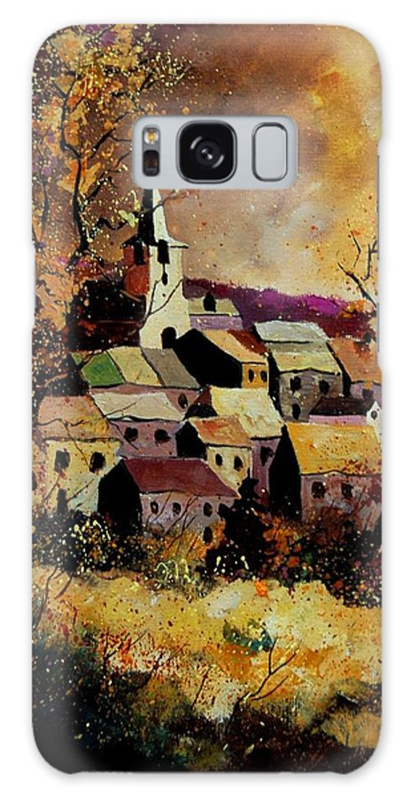 River Galaxy S8 Case featuring the painting Village In Fall by Pol Ledent
