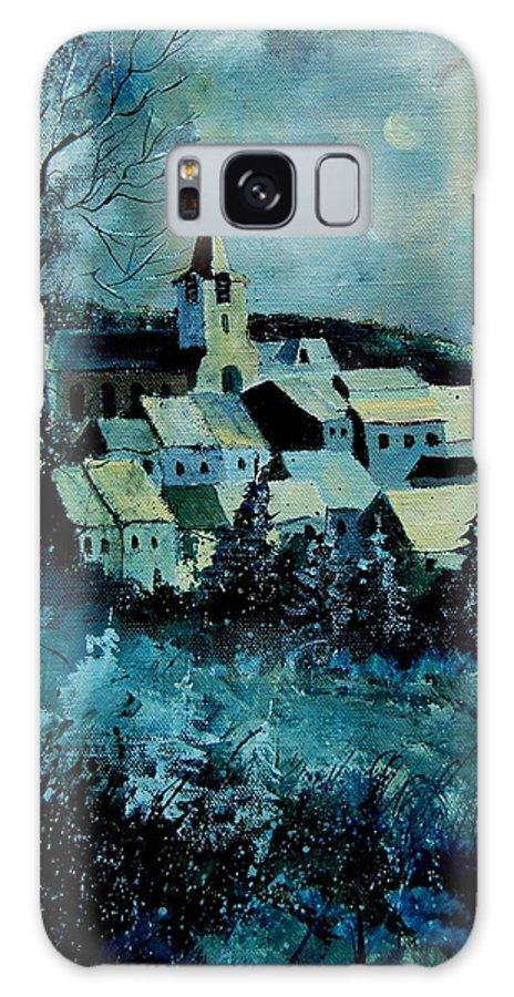River Galaxy S8 Case featuring the painting Village In Winter by Pol Ledent