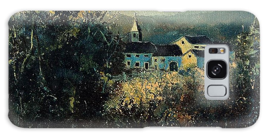 Landscape Galaxy S8 Case featuring the painting Village by Pol Ledent