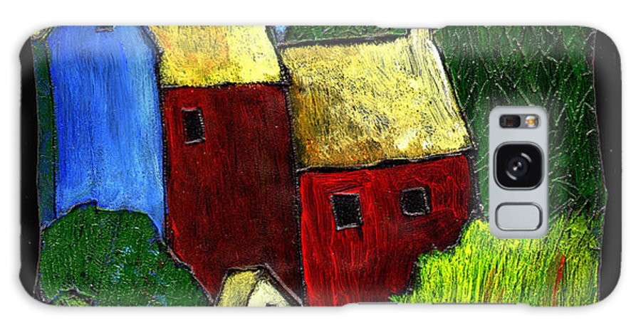 Village Galaxy S8 Case featuring the painting Village Scene by Wayne Potrafka