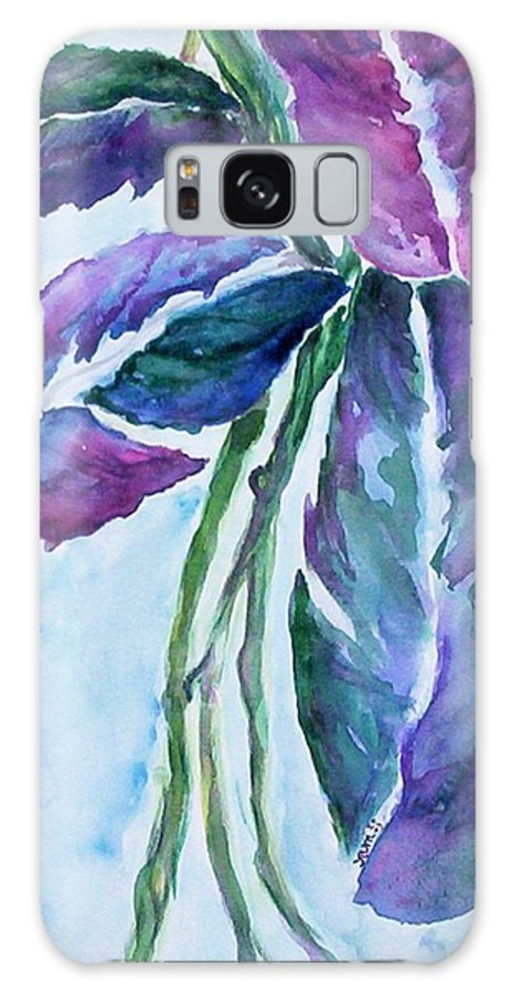 Landscape Galaxy S8 Case featuring the painting Vine by Suzanne Udell Levinger