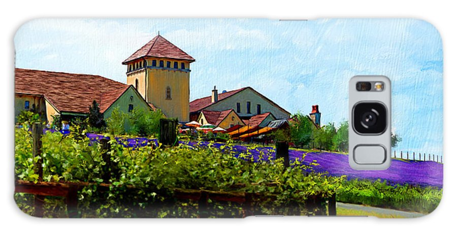 Agriculture Galaxy S8 Case featuring the digital art Vineyard And Heather by Debra Baldwin