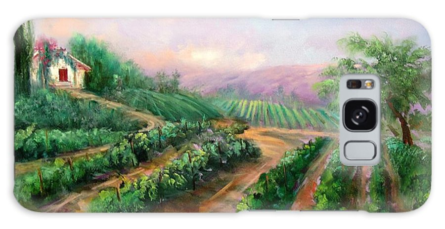 Wine Galaxy S8 Case featuring the painting Vineyard Haven by Sally Seago