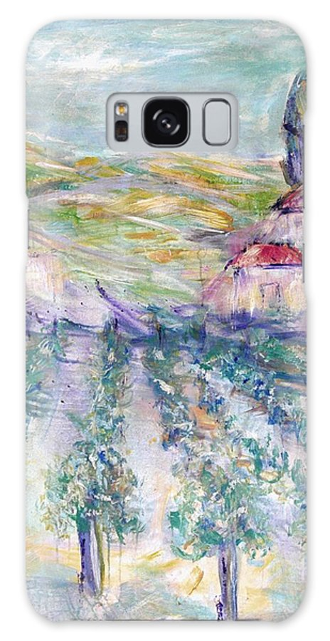 Vineyard Galaxy Case featuring the painting Vineyard by Jeanie Watson