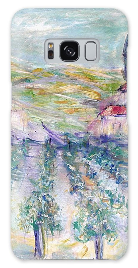 Vineyard Galaxy S8 Case featuring the painting Vineyard by Jeanie Watson