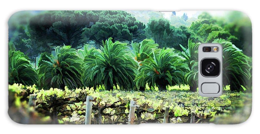 Vineyard Galaxy S8 Case featuring the photograph Vino Palmetto by Douglas Barnard