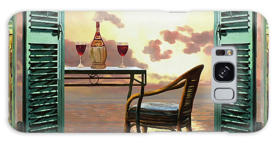 Red Wine Galaxy Case featuring the painting Vino Rosso Al Tramonto by Guido Borelli
