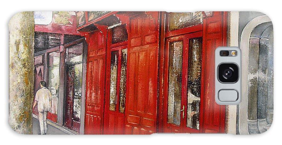Urban Galaxy Case featuring the painting Vinos Sagasta by Tomas Castano