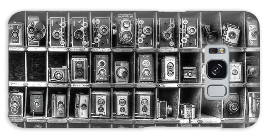 Vintage Camera Movies Motion Picture Kodak Old Antique Galaxy S8 Case featuring the photograph Vintage Camera Matrix by J Laughlin