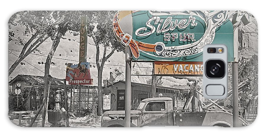 Antique Galaxy S8 Case featuring the photograph Vintage Neon Signs by Steve Ohlsen