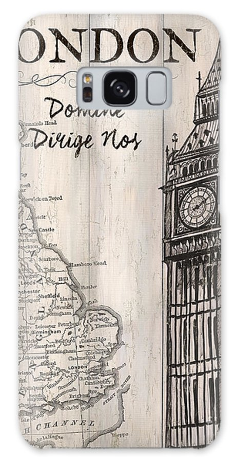 London Galaxy S8 Case featuring the painting Vintage Travel Poster London by Debbie DeWitt