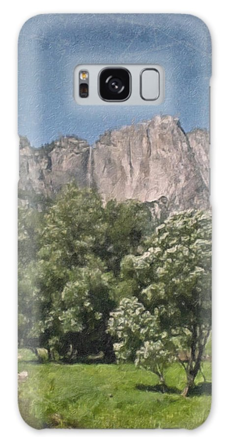 Landscape Galaxy S8 Case featuring the painting Vintage Yosemite by Teresa Mucha