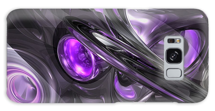 3d Galaxy S8 Case featuring the digital art Violaceous Abstract by Alexander Butler