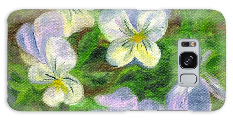 Flowers Galaxy S8 Case featuring the painting Violets by FT McKinstry