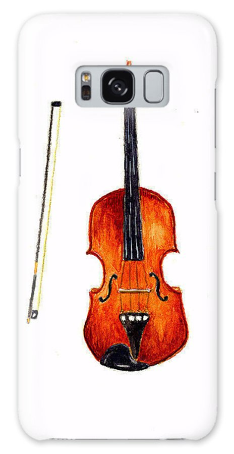 Music Galaxy S8 Case featuring the painting Violin by Michael Vigliotti