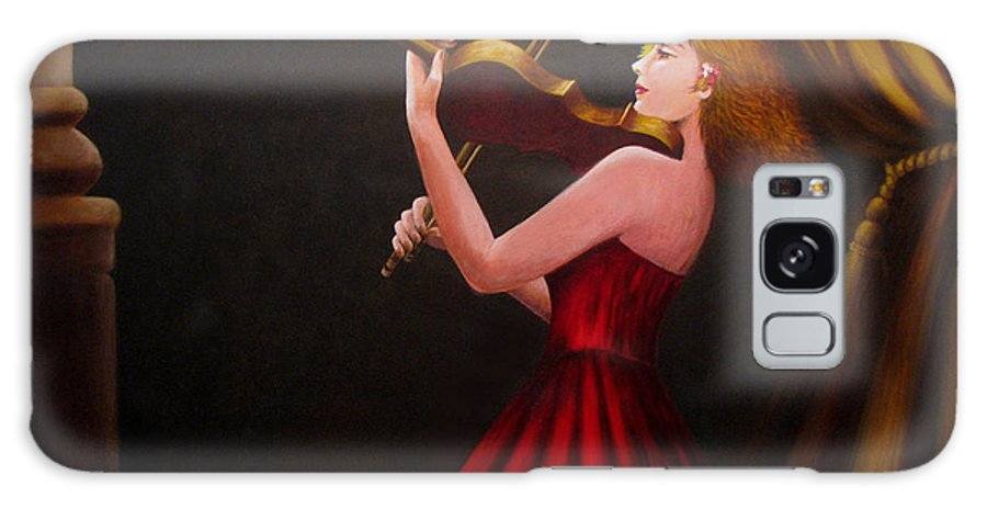 Oil Galaxy S8 Case featuring the painting Violinist by Anh T Chau