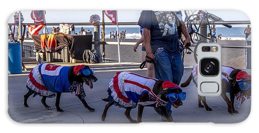 Virginia Beach Dogs Galaxy S8 Case featuring the photograph Virginia Beach Dogs by Samuel Gibbs