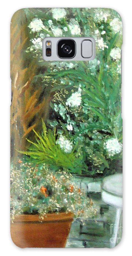 Virginia Galaxy Case featuring the painting Virginia's Garden by Laurie Morgan