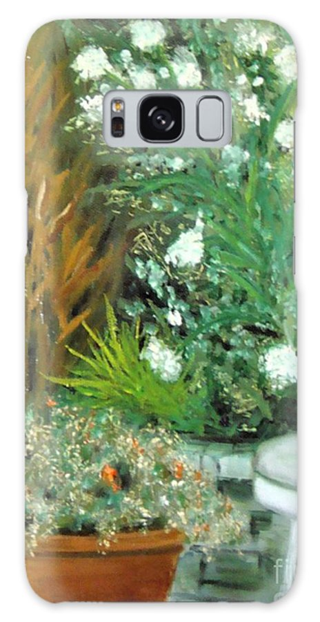 Plein Air Galaxy S8 Case featuring the painting Virginia's Garden by Laurie Morgan