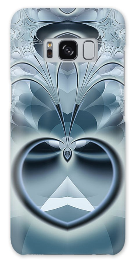 Fractal Galaxy Case featuring the digital art Vision by Frederic Durville