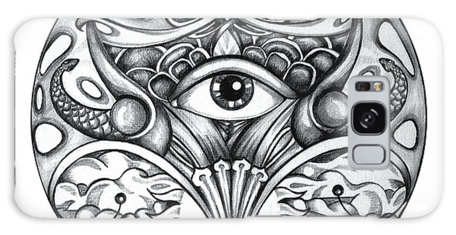 Eye Galaxy Case featuring the drawing Vision by Shadia Derbyshire