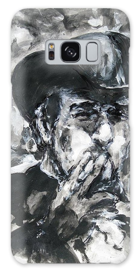 Vladimir Staer Galaxy S8 Case featuring the painting Vladimir Staer, Portrait by Sviatoslav Alexakhin