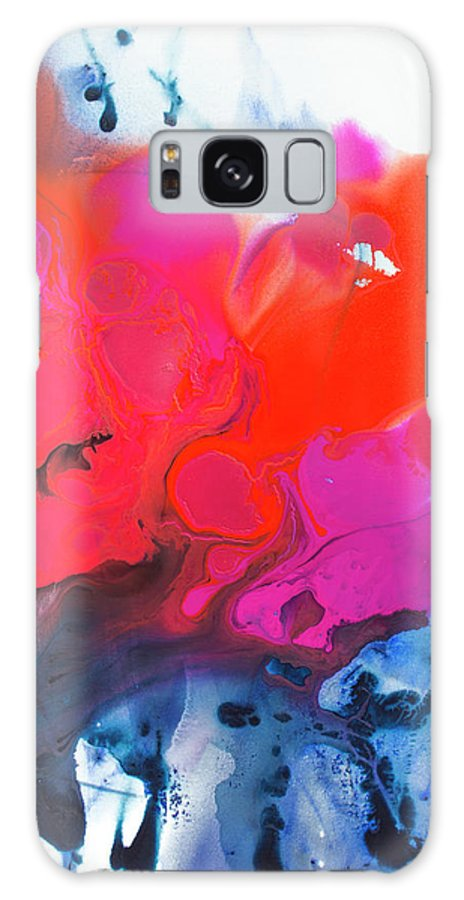 Abstract Galaxy S8 Case featuring the painting Voice by Claire Desjardins