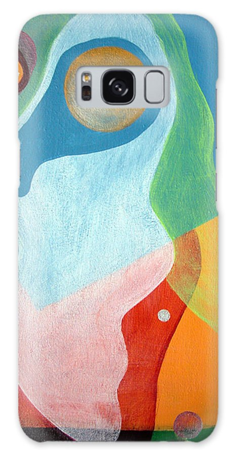 Abstract Galaxy Case featuring the painting Voile by Muriel Dolemieux