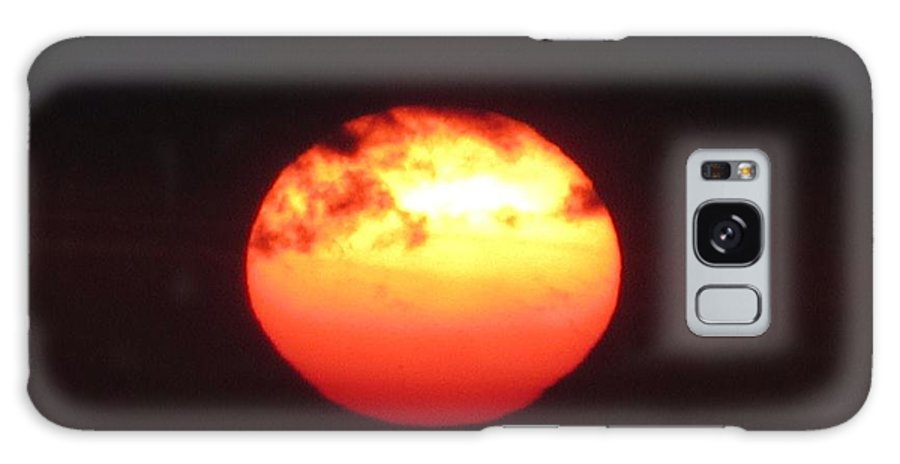 Sunset Galaxy S8 Case featuring the photograph Volcanic Sun by Michelli Rios-Allen