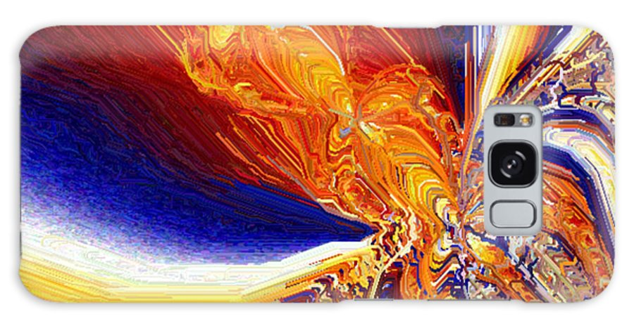Abstract Galaxy Case featuring the digital art Volcanicity by Charmaine Zoe