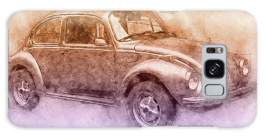 Volkswagen Beetle Galaxy Case featuring the mixed media Volkswagen Beetle 2 - Beetle - Economy Car - 1938 - Automotive Art - Car Posters by Studio Grafiikka