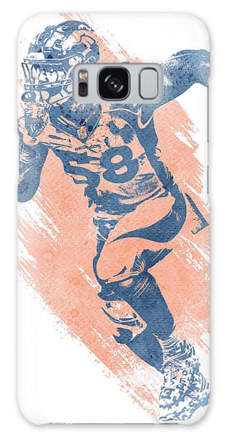 Von Miller Galaxy Case featuring the mixed media Von Miller Denver Broncos Water Color Art 7 by Joe Hamilton