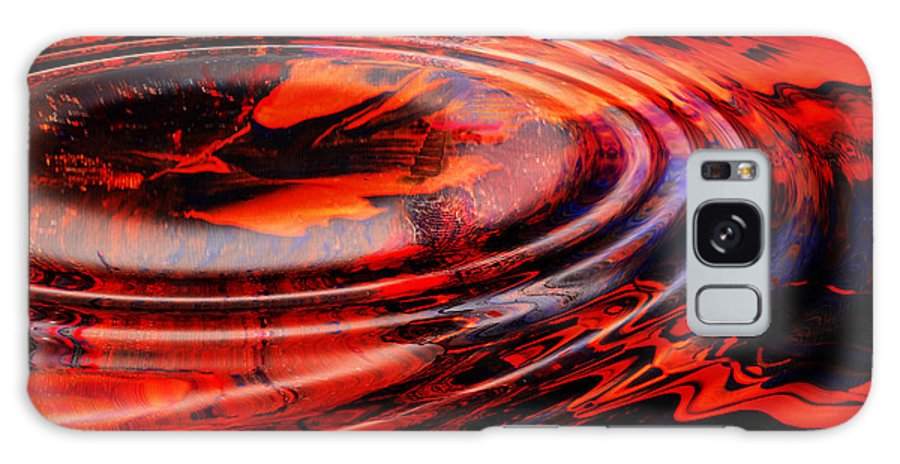 Abstract Reds Galaxy S8 Case featuring the digital art Vortex by Patricia Motley