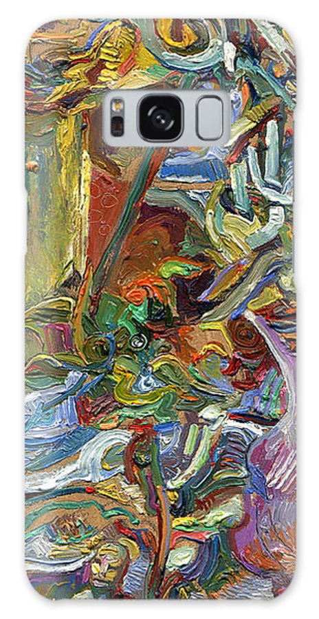 Color Galaxy S8 Case featuring the painting Vsp Xvii With Buddha by Juel Grant