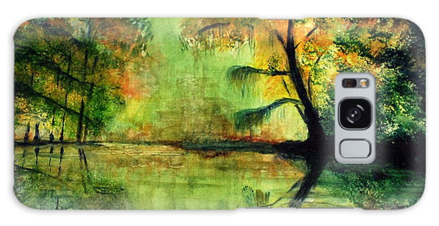 Waccamaw Galaxy S8 Case featuring the painting Waccamaw River Sc by Phil Burton