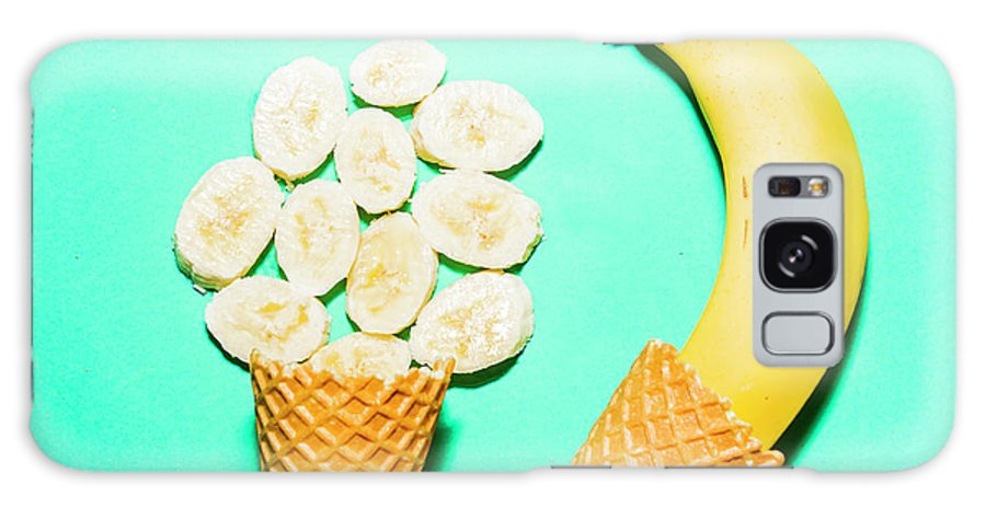 Summer Galaxy S8 Case featuring the photograph Waffle Cones With Fresh Banana by Jorgo Photography - Wall Art Gallery