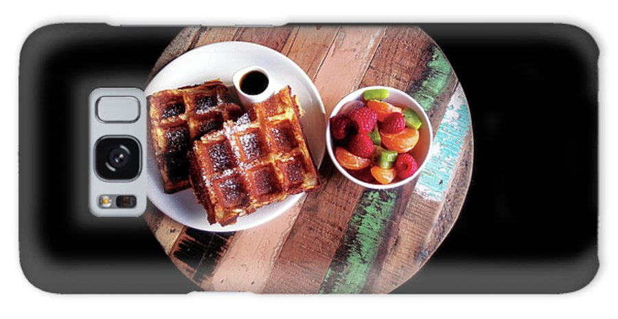 Breakfast Galaxy S8 Case featuring the photograph Waffles by AnaJyhv AnderDot