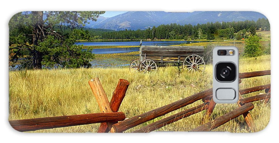 Landscape Galaxy S8 Case featuring the photograph Wagon West by Marty Koch