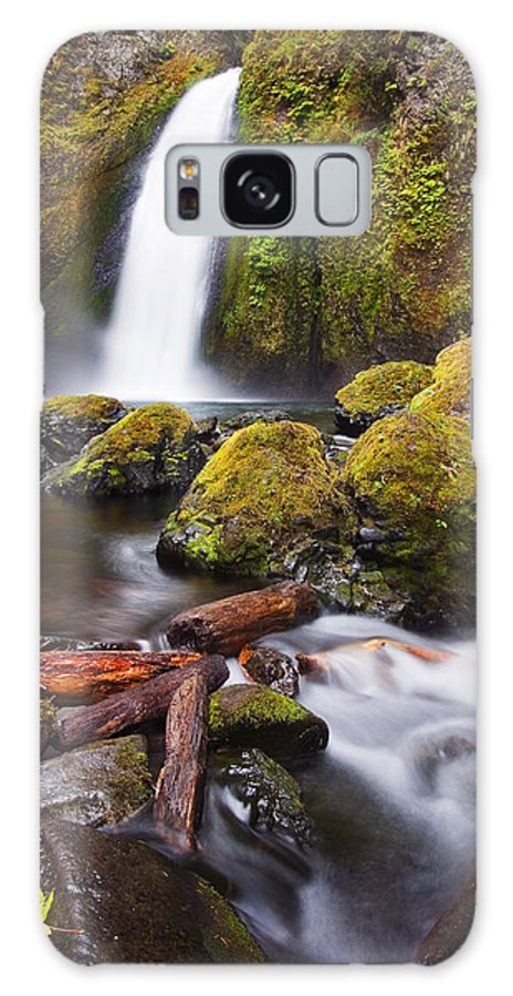 Waterfall Galaxy S8 Case featuring the photograph Wahclella by Mike Dawson