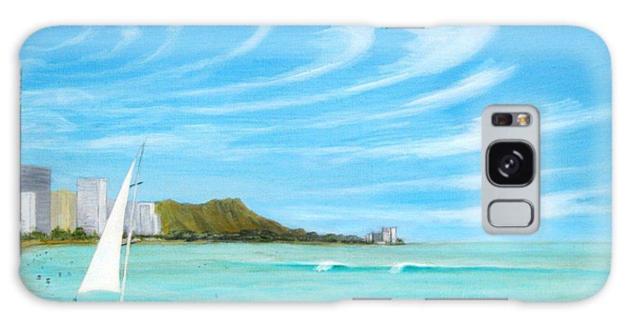 Waikiki Galaxy S8 Case featuring the painting Waikiki by Jerome Stumphauzer