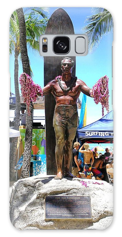 Statues Galaxy S8 Case featuring the photograph Waikiki Statue - Duke Kahanamoku by Mary Deal