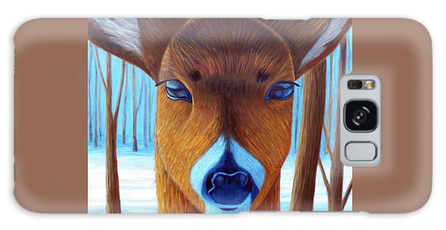 Deer Galaxy S8 Case featuring the painting Wait For The Magic by Brian Commerford