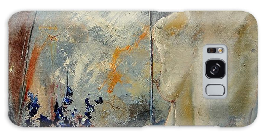 Girl Galaxy S8 Case featuring the painting Waiting For Her Lover by Pol Ledent