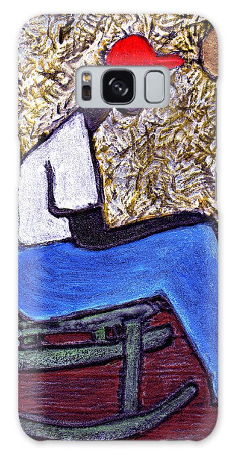Black Art Galaxy Case featuring the painting Waiting For The Dream by Wayne Potrafka