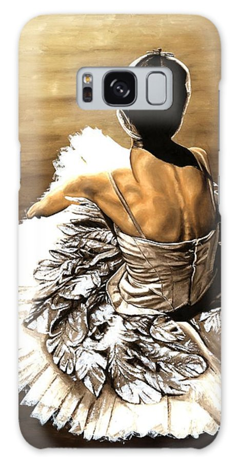 Ballet Galaxy S8 Case featuring the painting Waiting In The Wings by Richard Young
