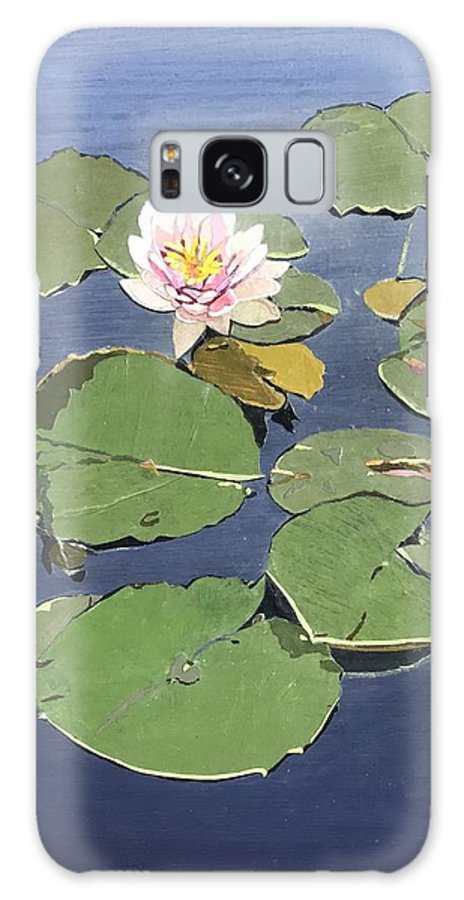 Recycled Galaxy Case featuring the painting Waiting Lotus by Leah Tomaino