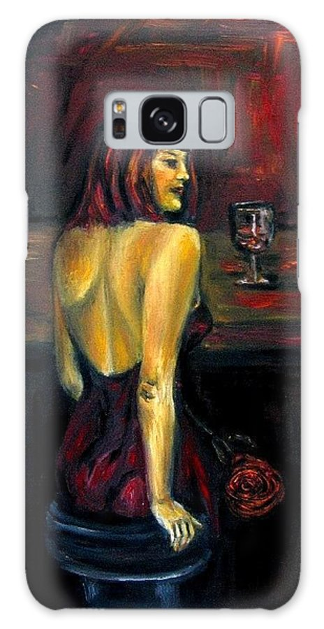 Woman Galaxy Case featuring the painting Waiting... Oil Painting  by Natalja Picugina