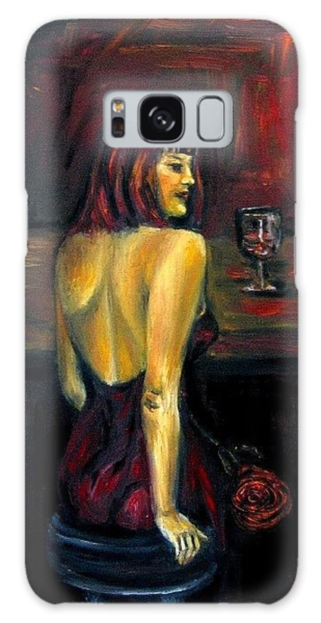 Woman Galaxy S8 Case featuring the painting Waiting... Oil Painting  by Natalja Picugina