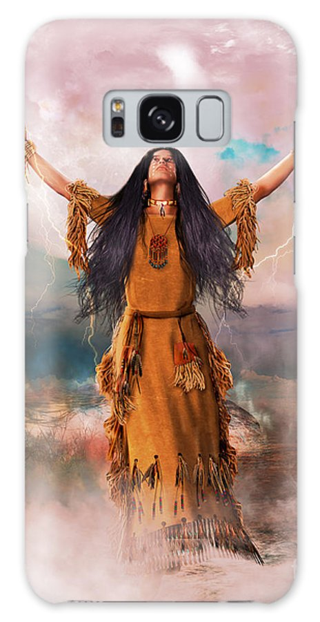 Great Spirit Galaxy S8 Case featuring the digital art Wakan Tanka The Great Spirit by Shanina Conway